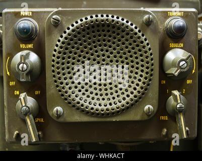 Older military 2 way radio - Stock Photo