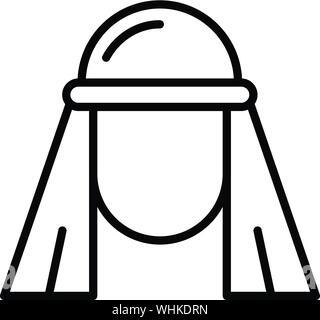 Egyptian icon, outline style - Stock Photo