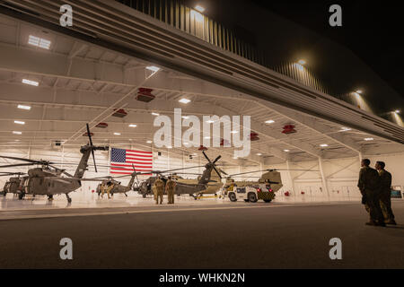 OPA-LOCKA, FLORIDA (2 September 2019) -- The Soldiers and Airmen of the Florida National Guard's Task Force Search and Rescue spent the night at the Miami-Opa Locka Executive Airport as they prepare for potential missions in response to Hurricane Dorian. (Photo by Ching Oettel) - Stock Photo