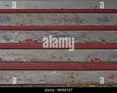 Close up of four wooden steps leading up to a Glebe neighbourhood house. Ottawa, Ontario, Canada. - Stock Photo