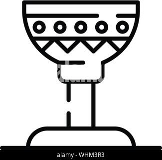 Egyptian cup icon, outline style - Stock Photo
