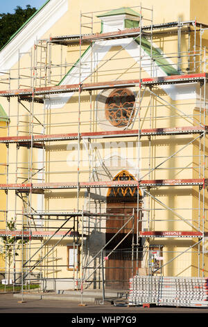St. John's Church Renovation in Tallinn Estonia - Stock Photo