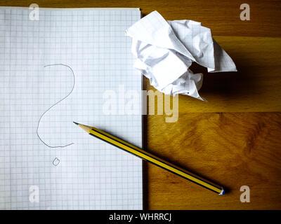 Directly Above Shot Of Pencil On Book At Table - Stock Photo