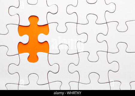 High Angle View Of Jigsaw Puzzle - Stock Photo