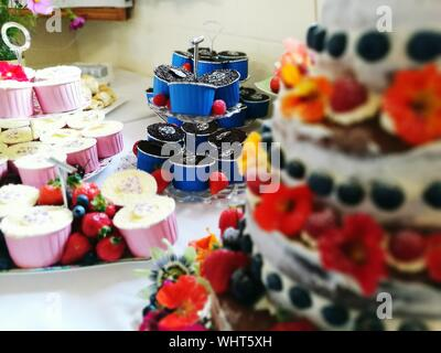Close-up Of Pastries For Sale In Shop - Stock Photo