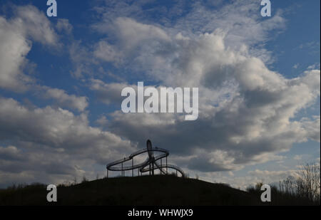 Tiger And Turtle  Magic Mountain Against Sky At Dusk Stock Photo
