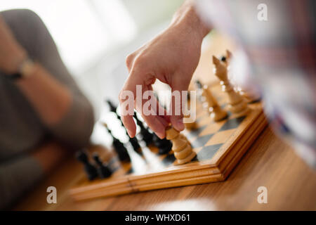 Chess game, strategy plan for winning success concept