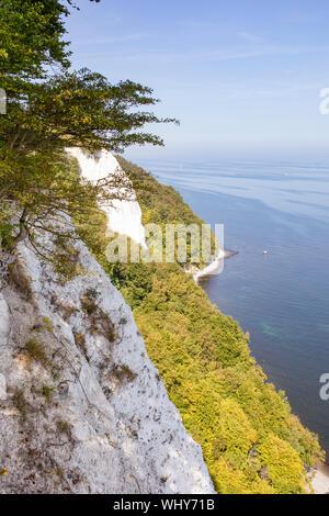 Chalk cliffs on the island Rugen (Rugia). The German Baltic Sea coast - Unesco World Heritage. - Stock Photo