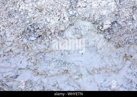 White chalk. Chalky cliffs on island Rugen, Cape Arkona, Germany. - Stock Photo