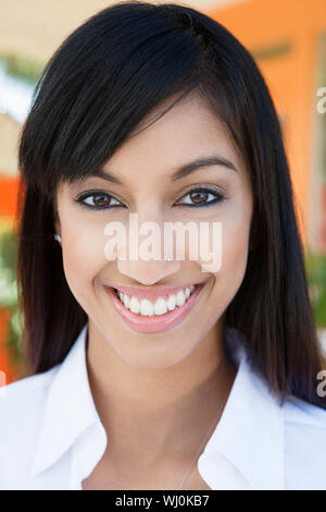 Young Woman with Nose Piercing - Stock Photo