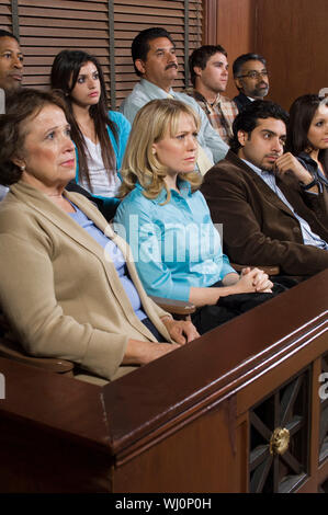 Jurors in courtroom - Stock Photo