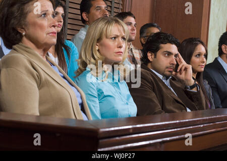Jurors during trial - Stock Photo