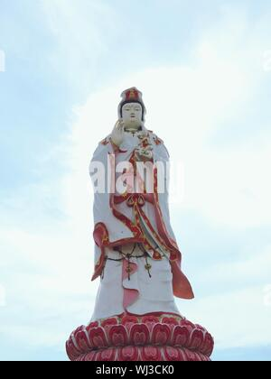Low Angle View Of Guanyin Buddha Statue - Stock Photo