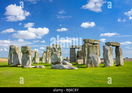 Neolithic stonehenge ancient monument stonehenge england Stonehenge Wiltshire Stonehenge stone circle near Amesbury Wiltshire england uk gb Europe - Stock Photo