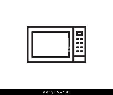 Microwave icon from appliances set. Vector isolated illustration. - Vector - Stock Photo