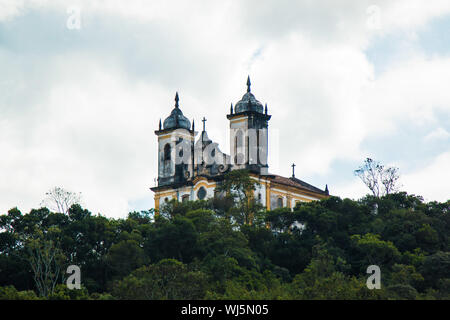 Low Angle View Of San Francisco De Paula Church Against Cloudy Sky - Stock Photo