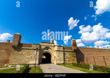 Entrance to Kalemegdan Fortress in Belgrade, capital of Serbia.  Kalemegdan Park is the largest park and the most important historical monument in Bel - Stock Photo