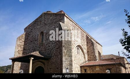 Church Of Santa Maria Del Castillo Against Blue Sky - Stock Photo