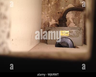 Electric Switch At Old Building - Stock Photo
