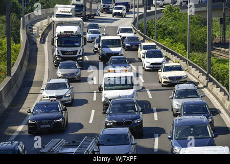 Car, highway, cars, motor traffic, Berlin, Charlottenburg-Wilmersdorf, Germany, town highway, town ring, traffic jam, stops, street, street, traffic, - Stock Photo