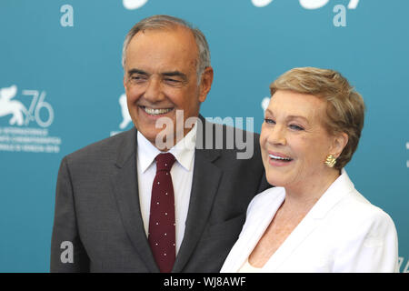 Europe, Italy, Lido di Venezia, September 3, 2019 : Julie Andrews, Golden Lion for lifetime achievement, 76th Venice Film Festival. In the picture the - Stock Photo