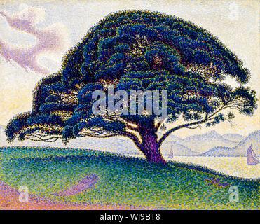 Paul Signac, The Bonaventure Pine, landscape painting, 1893 - Stock Photo