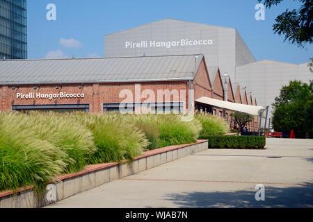 Italy, Milan, Bicocca Quarter, Pirelli Hangar Bicocca, Art Museum - Stock Photo