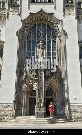 District court, district court of Wedding, view, architecture, Outside, Outside, outside view, outside view, Berlin, well place, Germany, building, bu - Stock Photo