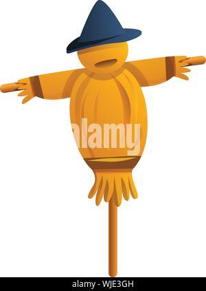 Plant scarecrow icon. Cartoon of plant scarecrow vector icon for web design isolated on white background - Stock Photo