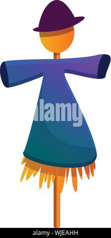 Scarecrow icon. Cartoon of scarecrow vector icon for web design isolated on white background - Stock Photo