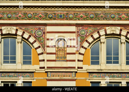 Detail of the Sofia History Museum, the magnificent former Central Mineral Baths (Turkish Mineral Baths). Sofia, Bulgaria - Stock Photo