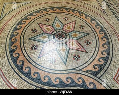 Floral Pattern Flooring Of Basilica Di Santa Maria Maggiore - Stock Photo