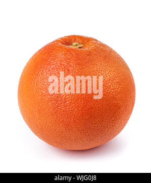 Grapefruit (Citrus paradisi) fruit isolated on white background - Stock Photo