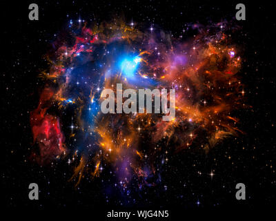 Universe Is Not Enough series. Backdrop composed of fractal elements, lights and textures and suitable for use in the projects on fantasy, science, re - Stock Photo