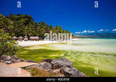 Exotic stunning sea views on the island of Boracay - Stock Photo