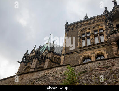 Wernigerode Castle located in the Harz mountains - Stock Photo