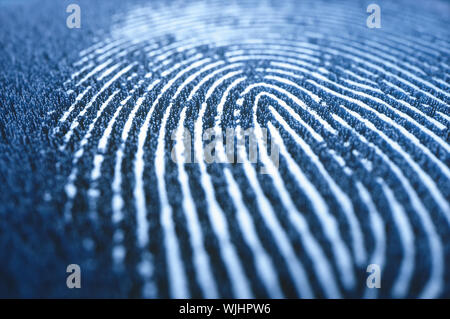High relief 3D digital printing. Concept of technology and security of personal data. - Stock Photo