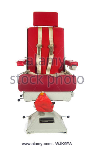 An American aircraft seat isolated over white - Stock Photo