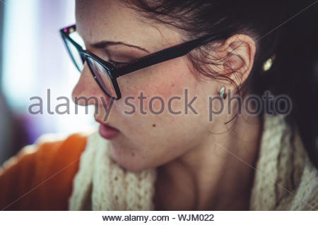 Close-up Of Young Woman - Stock Photo
