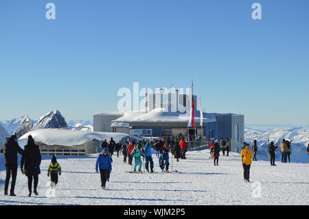 Mount or Mt Titlis in Switzerland near Engelberg - Stock Photo