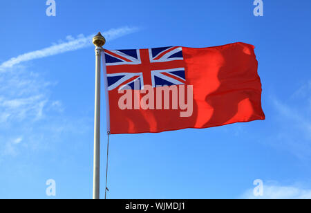 Red Ensign, Flag, Great Britain, UK, shipping, Red Duster, merchant navy, flags - Stock Photo