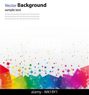 illustration of vector background with colorful  blocks and glitters - Stock Photo