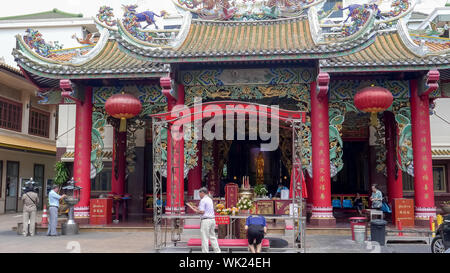 BANGKOK, THAILAND- JUNE, 23, 2017 kuan im shrine on the grounds of the tien fa foundation - Stock Photo