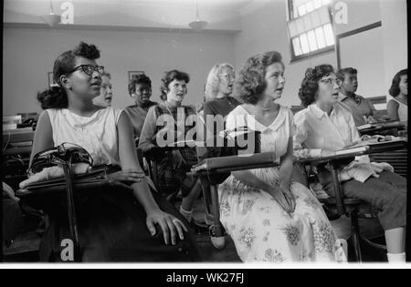 Integrated classroom at Anacostia High School, Washington, D.C.;  Integrated classroom at Anacostia High School, Washington, D.C. - Stock Photo