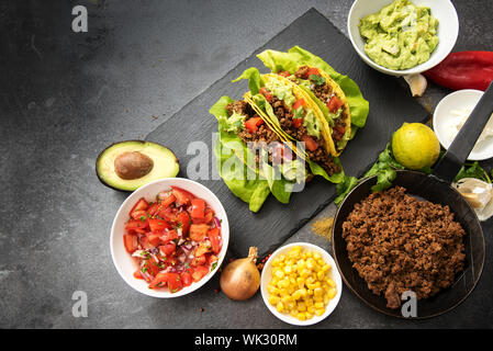 High Angle View Of Vegetables In Bowl On Table - Stock Photo