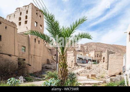 Image buildings of Birkat al mud in Oman - Stock Photo