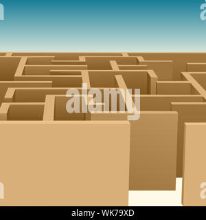 illustration of maze - Stock Photo