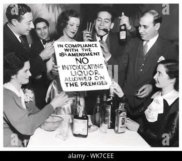Prohibition times in America in the 30s - Stock Photo