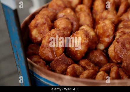 Gemblong. Fried glutinous rice buns from West Java. - Stock Photo
