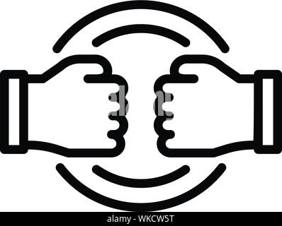 Stop fight violence icon, outline style - Stock Photo